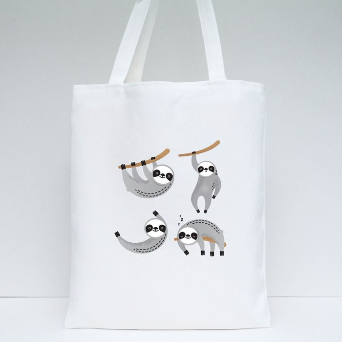 Sloth Variety Action Tote Bags