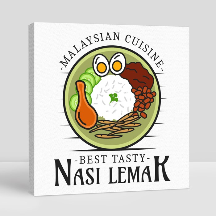 National Food Logo 1 Canvas (Square)