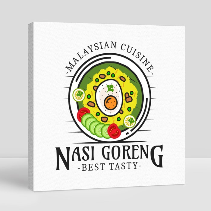 National Food Logo 11 Canvas (Square)