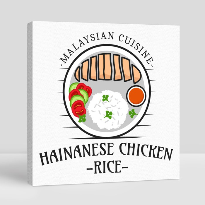 National Food Logo 8 Canvas (Square)