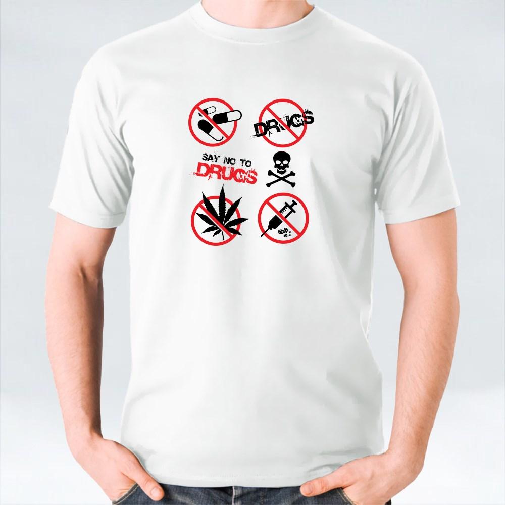 No Drugs Signs T-shirt