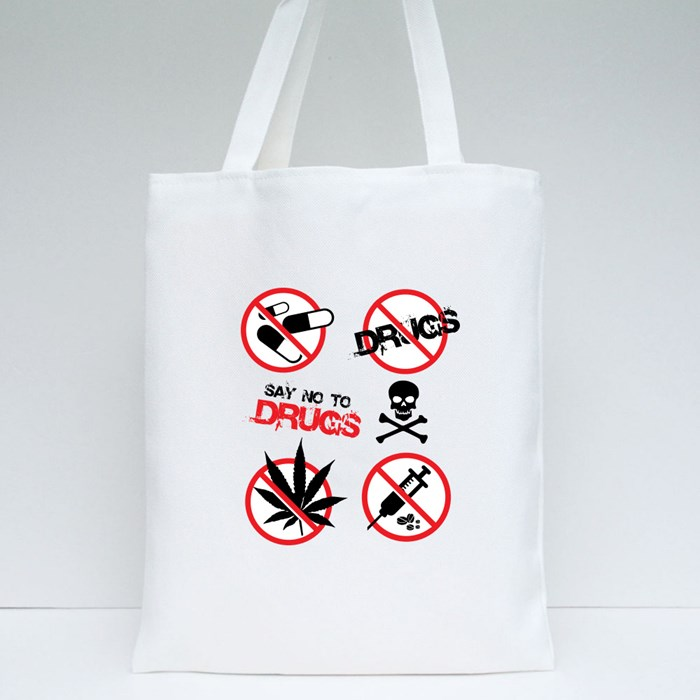 No Drugs Signs Tote Bags
