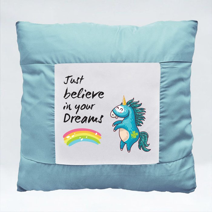 Unicorn Believe in Your Dreams Cushions (Square)