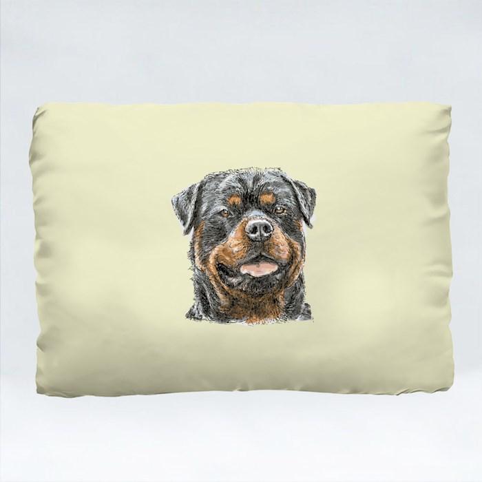 Rottweiler Hand Drawn Vector Cushions (Rectangle)