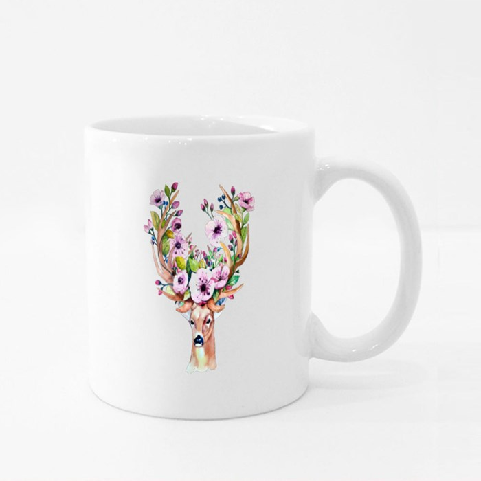Watercolor Floral Glow in Dark Mugs