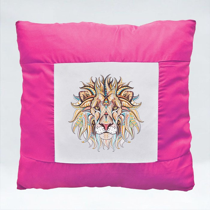 Patterned Head of the Lion Cushions (Square)