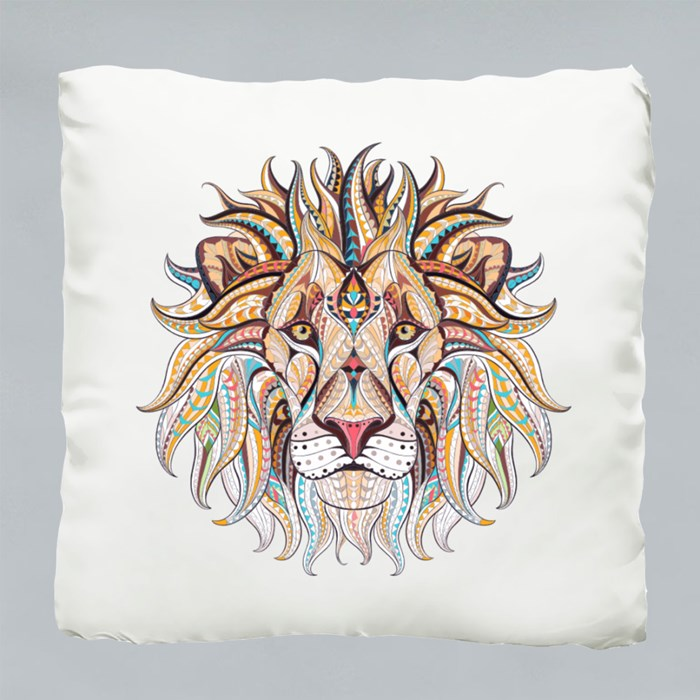 Patterned Head of the Lion Cushions (Sparkling)