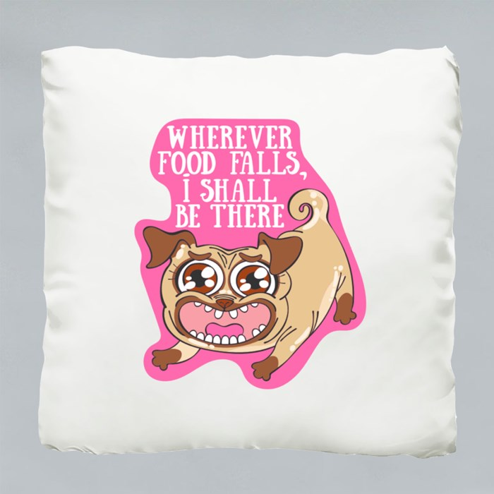 Wherever Food Falls, I Shall Be There Cushions (Sparkling)