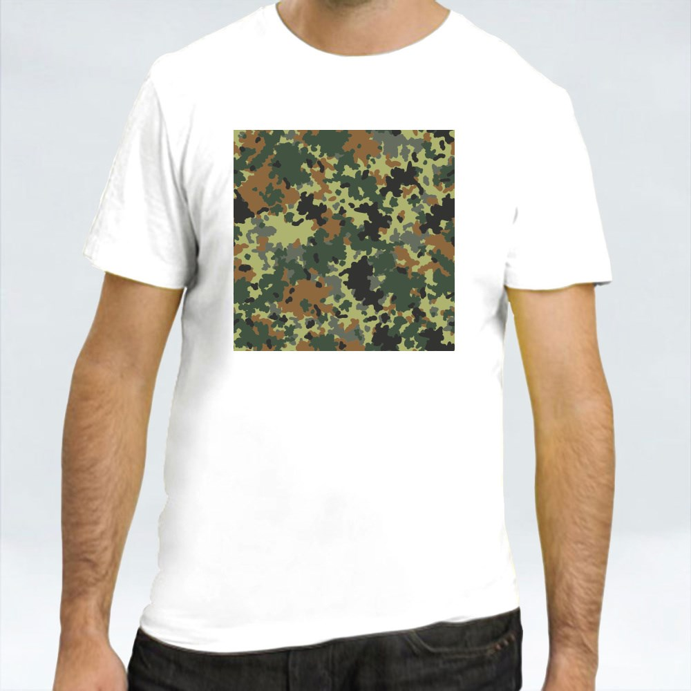 Seamless Set of Camouflage Pattern Vector 7 T-Shirts