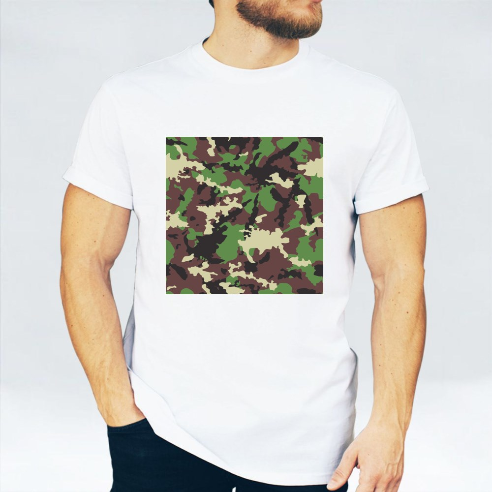 Seamless Set of Camouflage Pattern Vector 23 تي شيرت