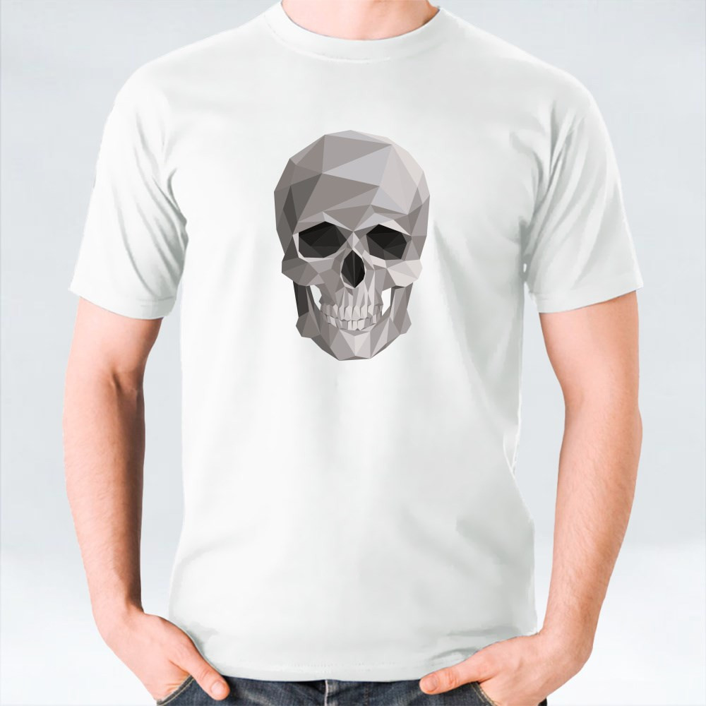 Colorful Geometric Skull T-Shirts