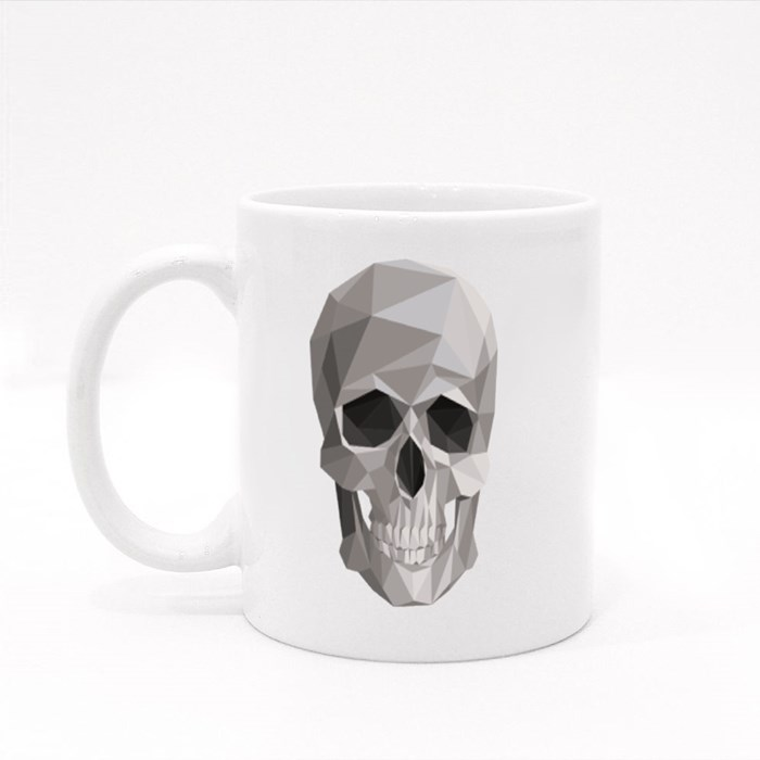 Colorful Geometric Skull Colour Mugs