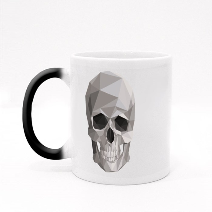 Colorful Geometric Skull Magic Mugs