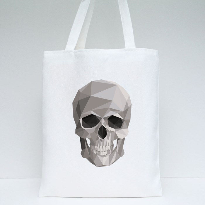 Colorful Geometric Skull Tote Bags