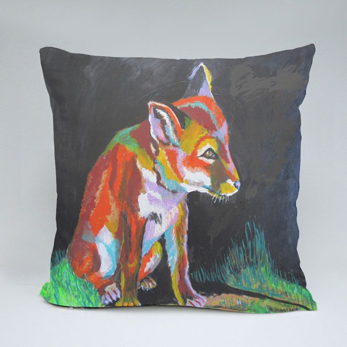 Fox Cub Throw Pillows