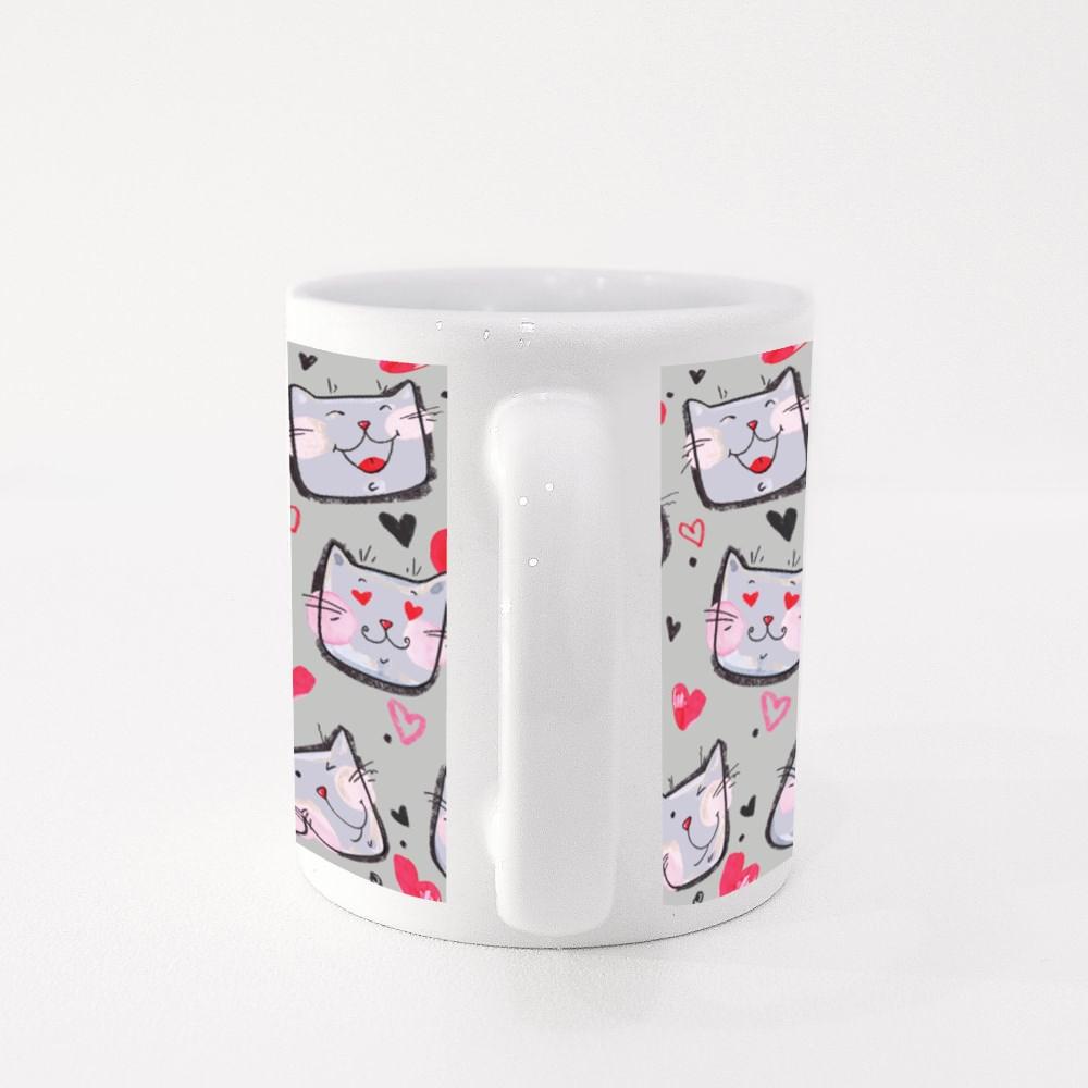 Xl Lovely Texture Cat Mug Berwarna