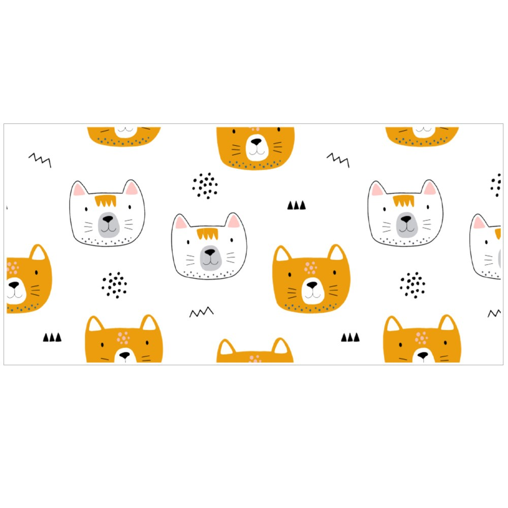 Cat and Different Shapes أكواب اللون