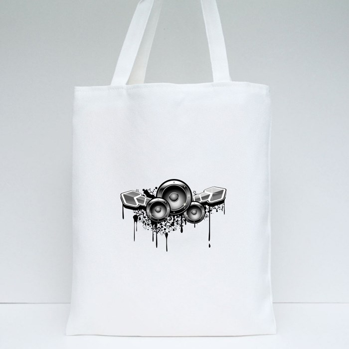 Music Grunge for Modern Design Tote Bags