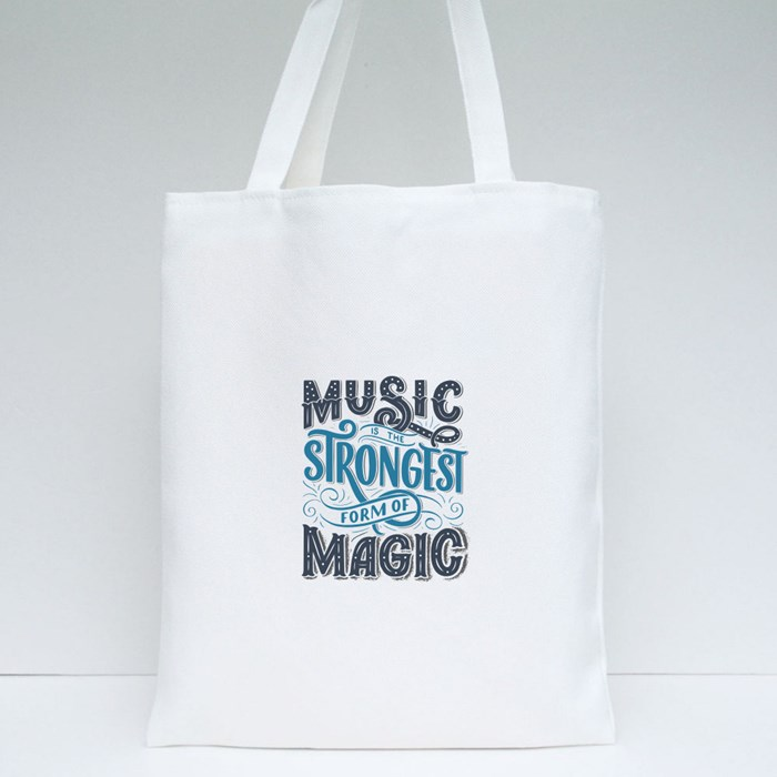 Set With Inspirational Quotes About Music 3 Tote Bags