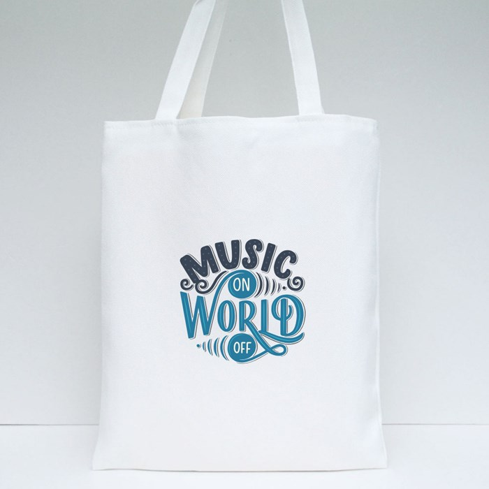 Set With Inspirational Quotes About Music 5 Tote Bags