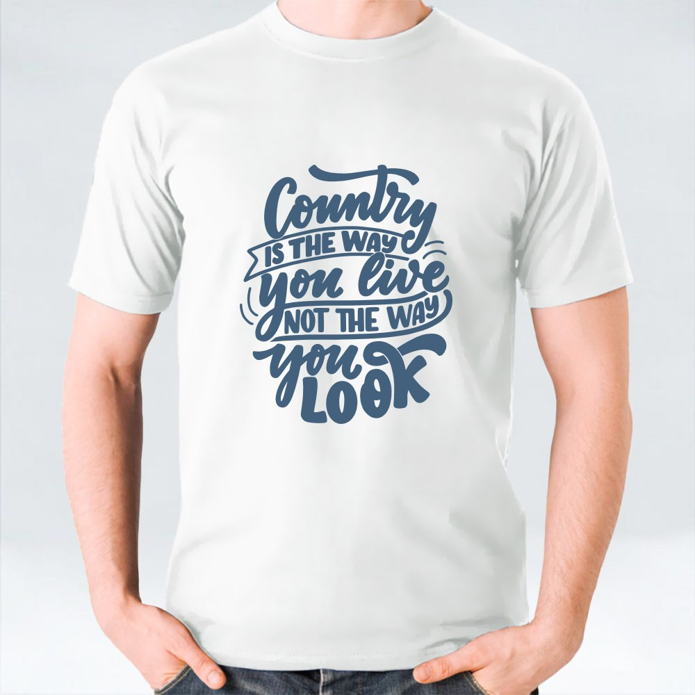 Set With Country Music Lettering Quote 3 T-Shirts