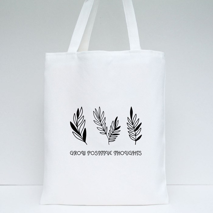 Grow Positive Thoughts Tote Bag Tote Bags