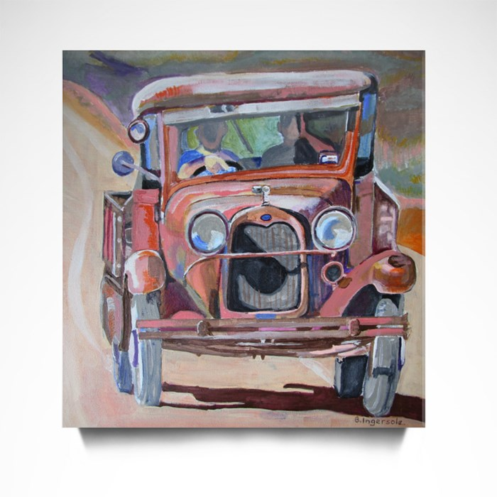 Old Ford Pickup. Canvas (Square)