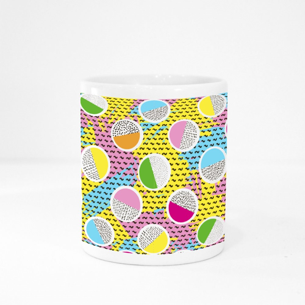 Pattern from Circles on the Bright Brush Cangkir Warna