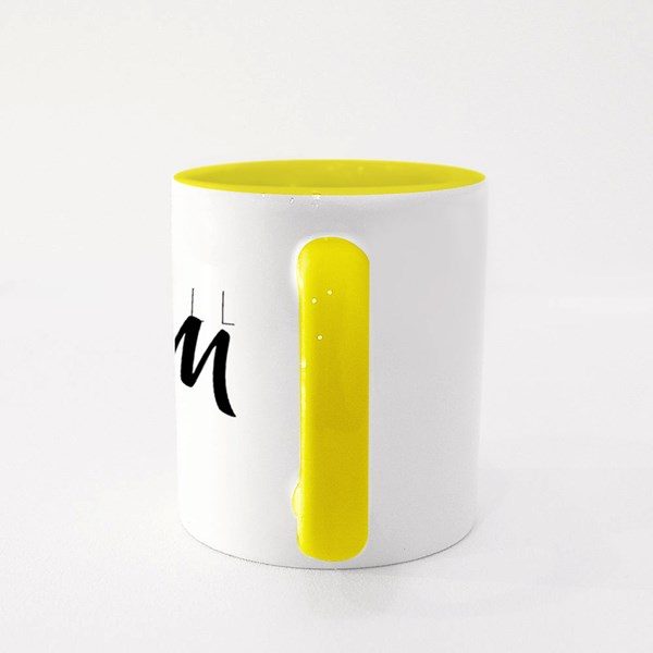 Graphic Black Sketch With European Football Colour Mugs