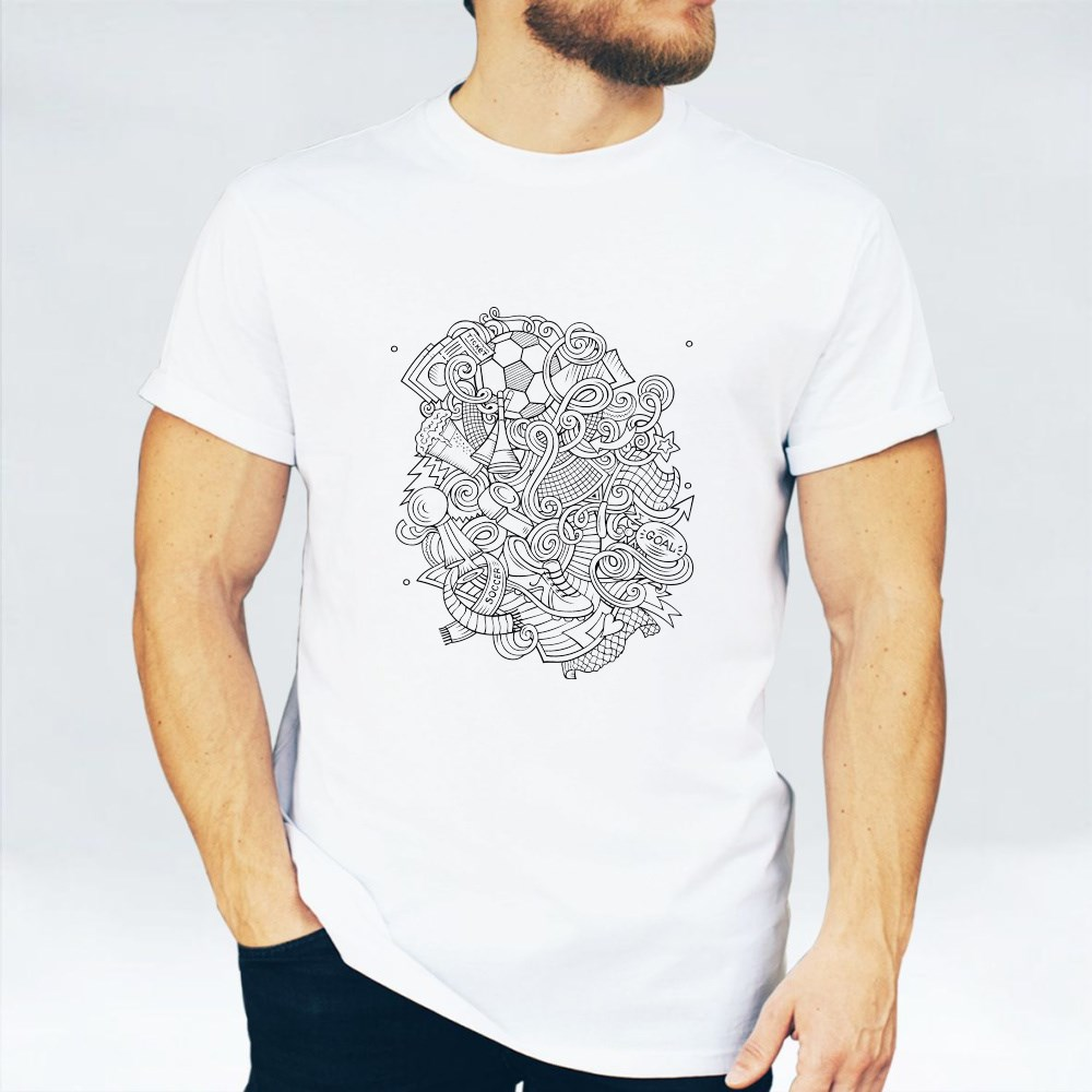 Colorful, Detailed, With Lots of Objects Background T-Shirts