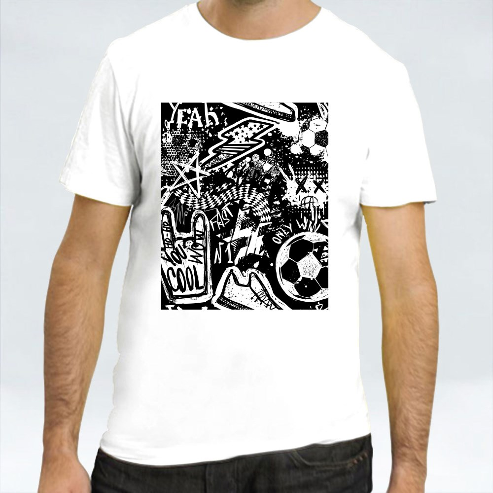 Abstract Seamless Football Pattern Sport Background T-Shirts