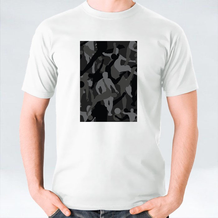 Background of Seamless Soldier Woodland Gray Soccer Camo T-Shirts