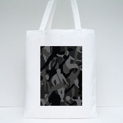 Background of Seamless Soldier Woodland Gray Soccer Camo Tote Bags