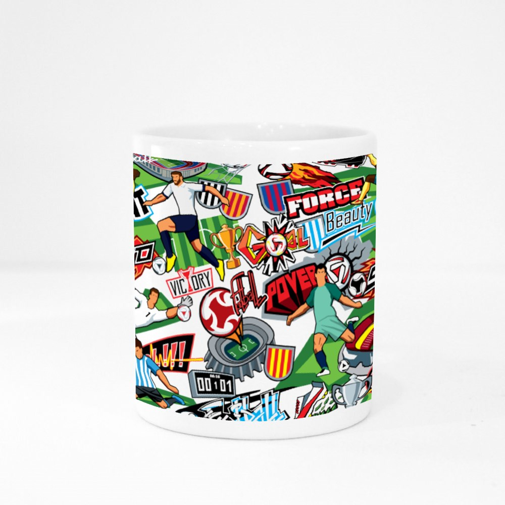 Football Attributes, Football Players of Different Teams Colour Mugs