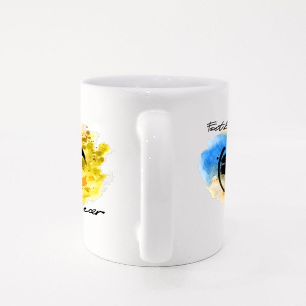 Vector Hand Drawn Picture of Football Colour Mugs
