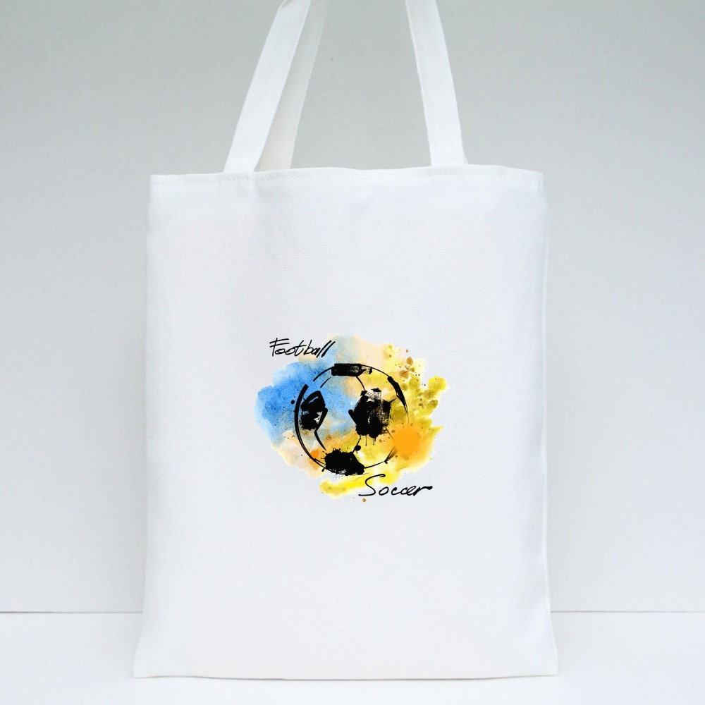 Hand Drawn Picture of Football Tote Bags