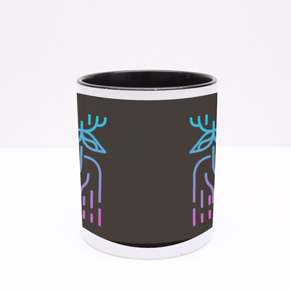The Alien Deer from the Earth Threatens the Galaxy and the Universe Colour Mugs