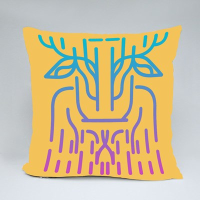 The Alien Deer from the Earth Threatens the Galaxy and the Universe Throw Pillows