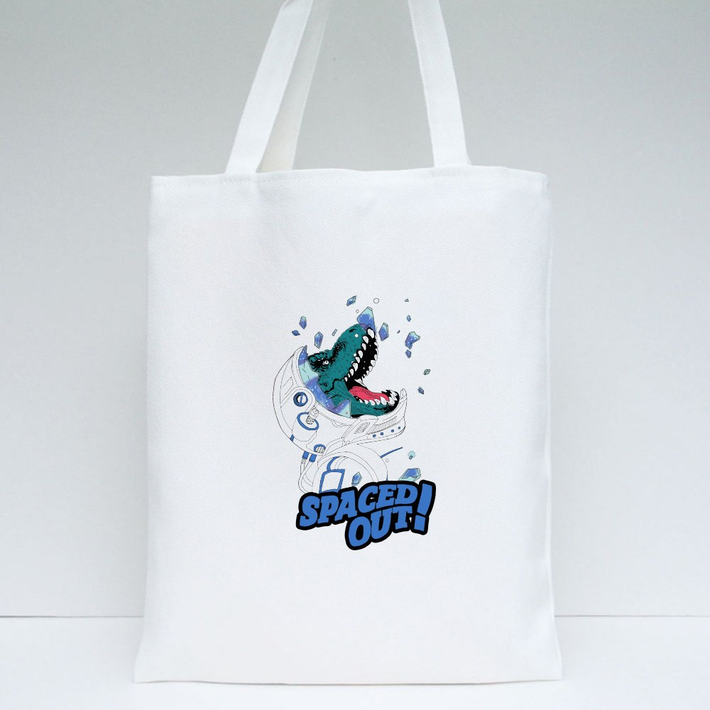 Spaced Out! Dinosaur Tote Bags