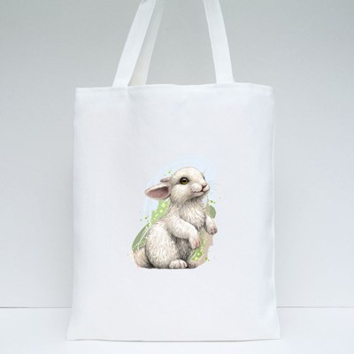 Rabbit Watercolor Style Tote Bags