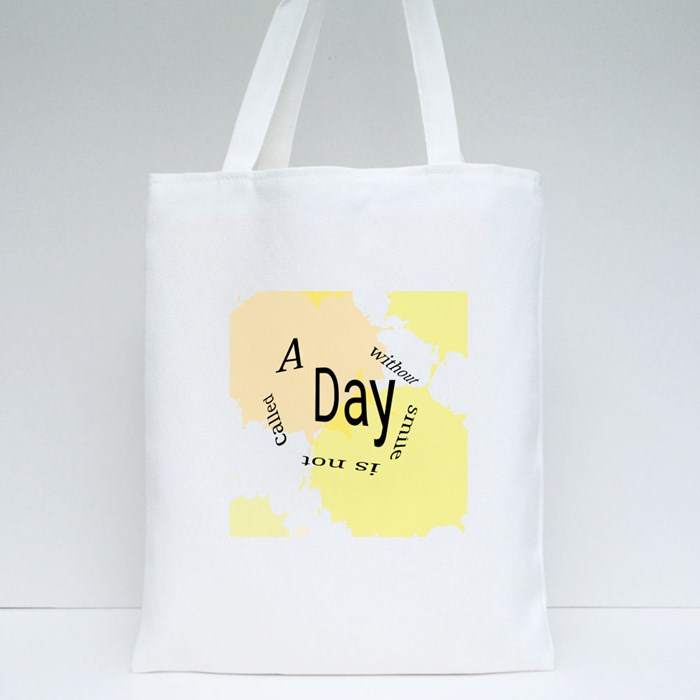 A Day With Smile Tote Bags