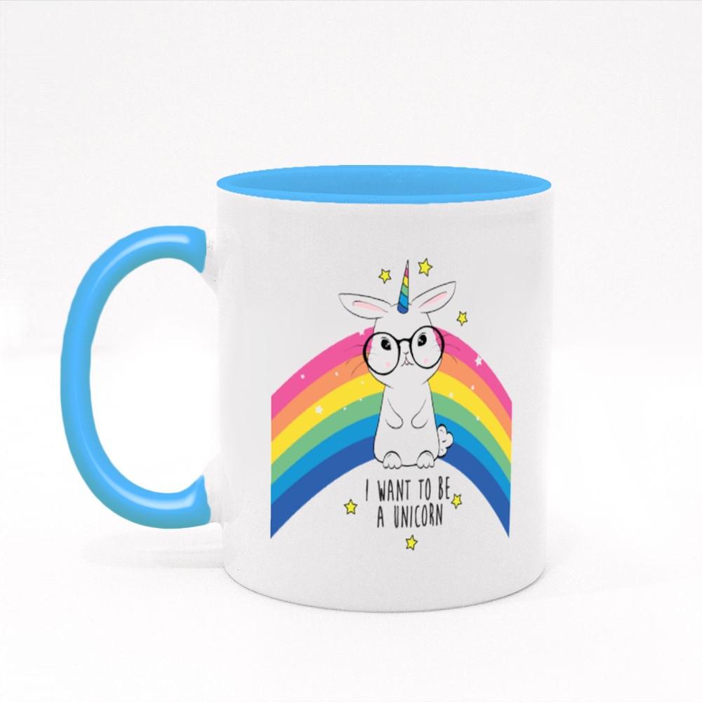 Cute Rabbit Unicorn Colour Mugs