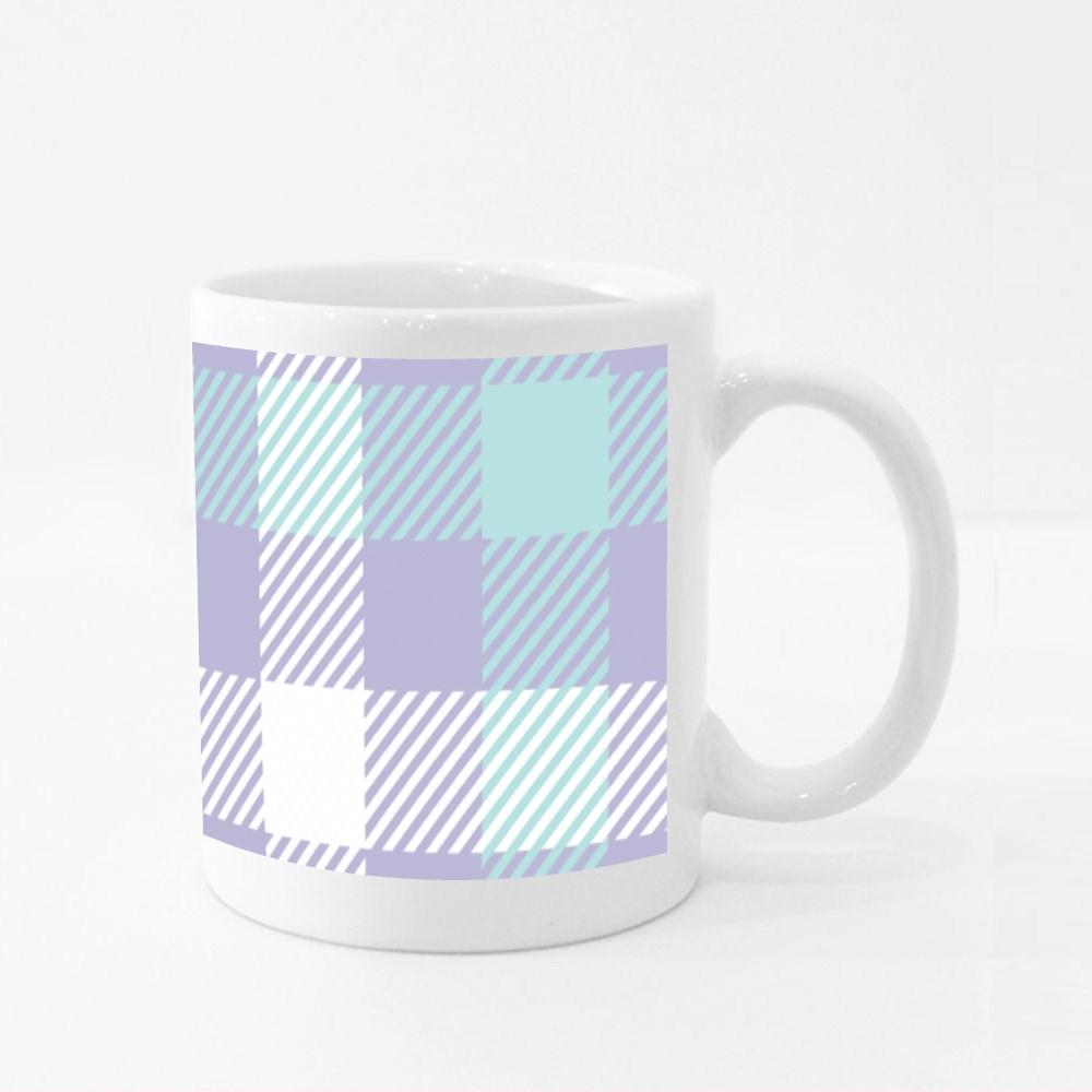 Sixteen Set of Easter Tartan Patterns 3 Colour Mugs