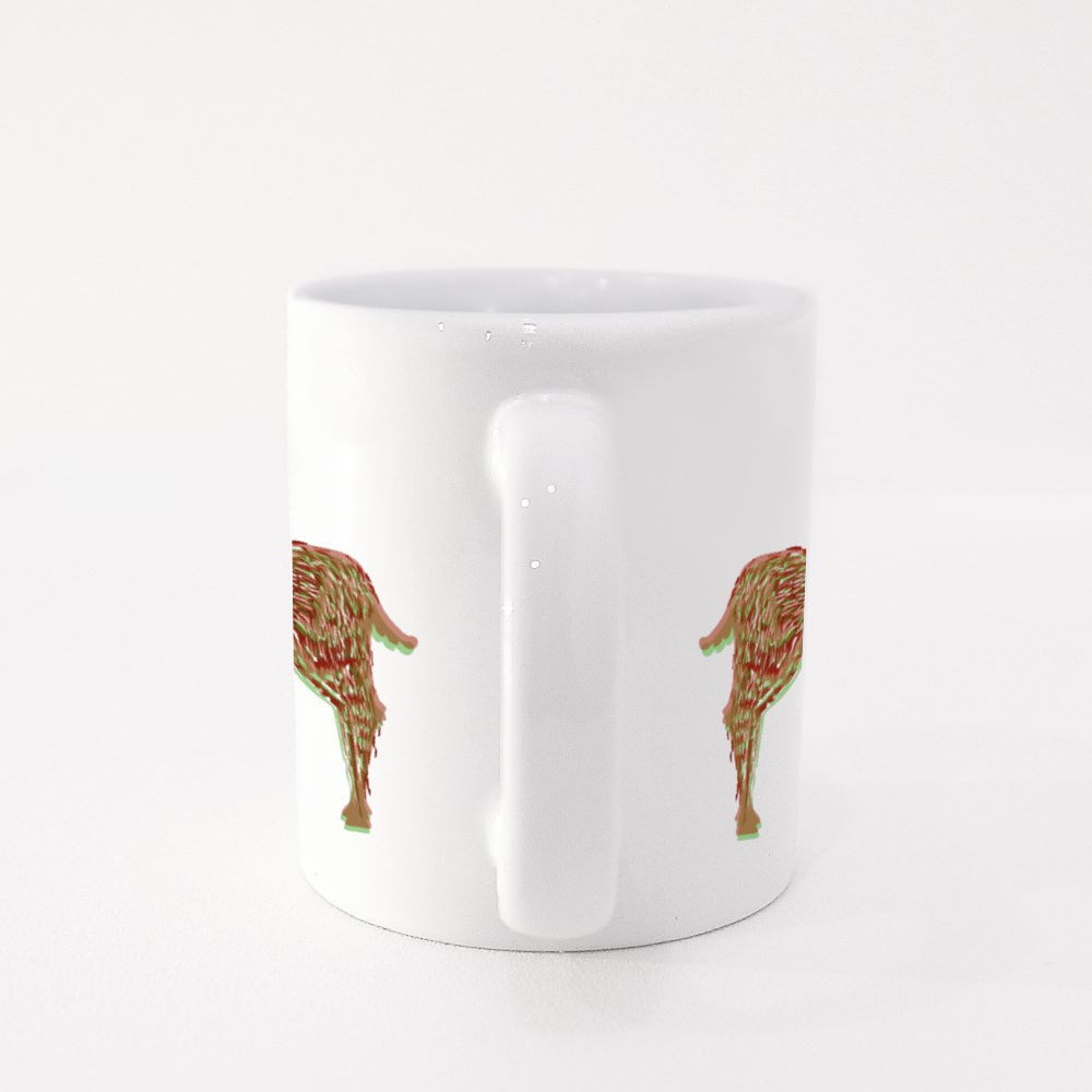 Illustration of the Stylized Shamanic Psychedelic Deer at Red Square B Colour Mugs