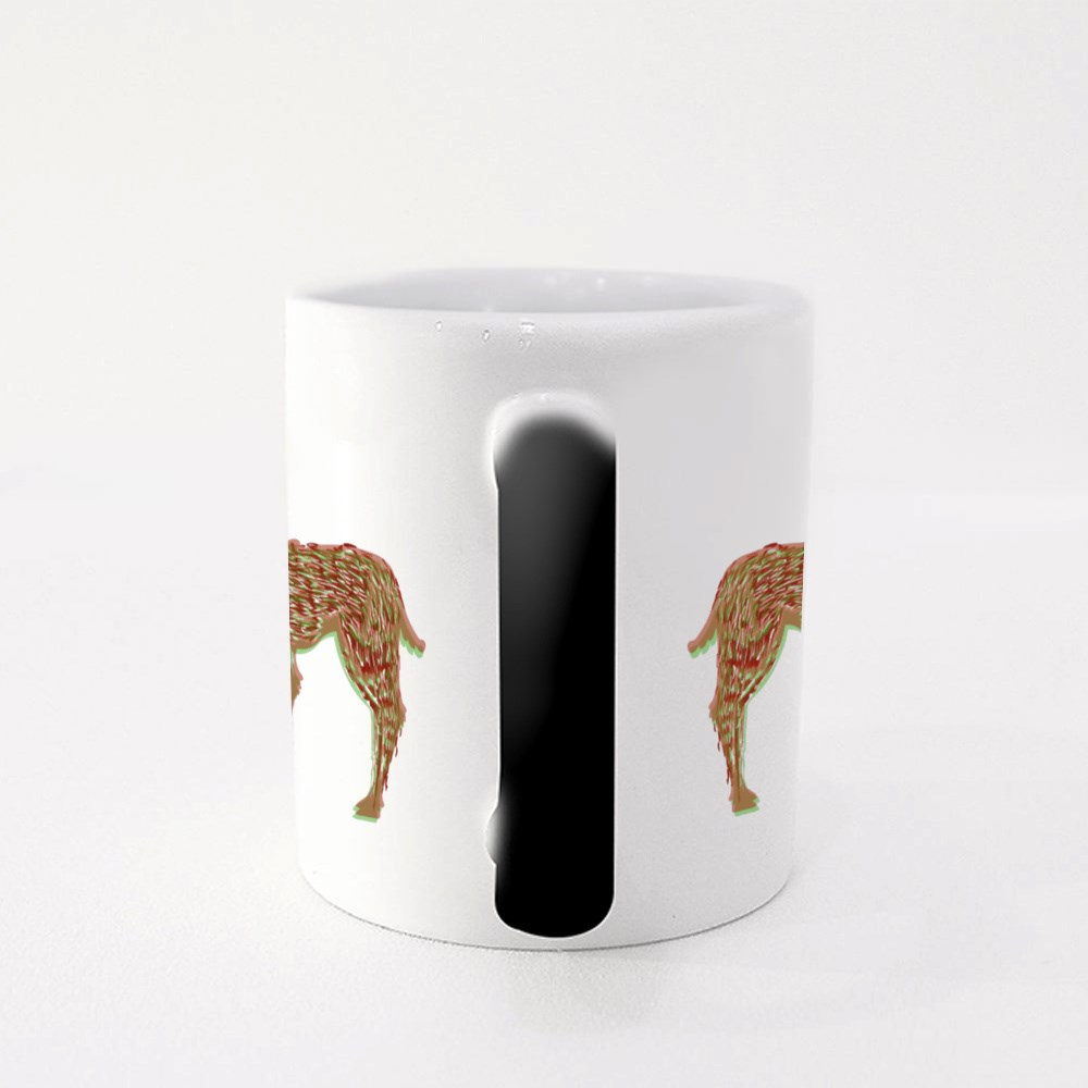 Illustration of the Stylized Shamanic Psychedelic Deer at Red Square B Magic Mugs