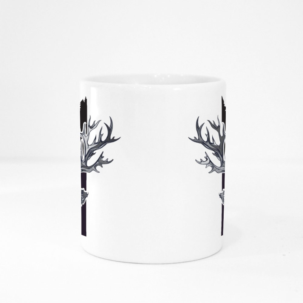 Indian Colored Ornament With Deer in Night Colour Mugs