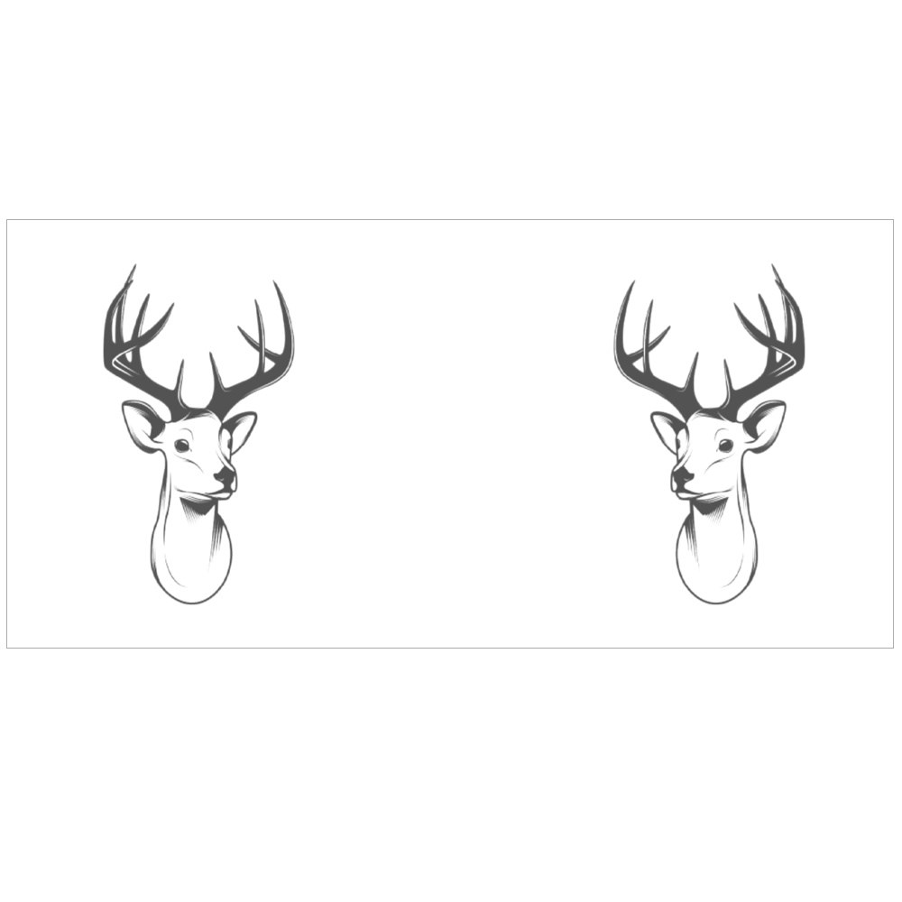 Deer Head Isolated on White Background Colour Mugs