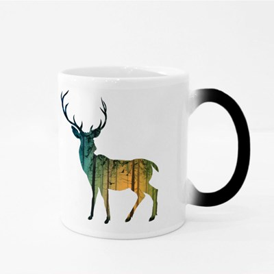 Pine Forest Deer Magic Mugs