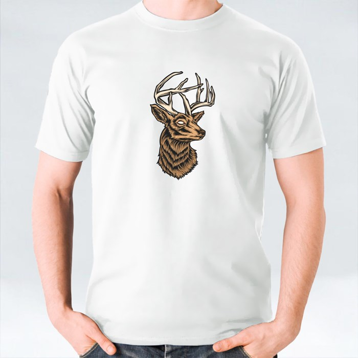 Deer Head Vector and Logo T-Shirts