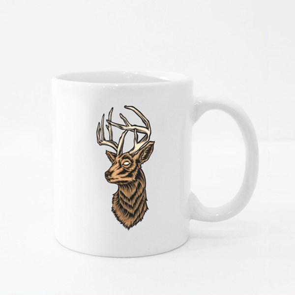 Deer Head Vector and Logo Colour Mugs